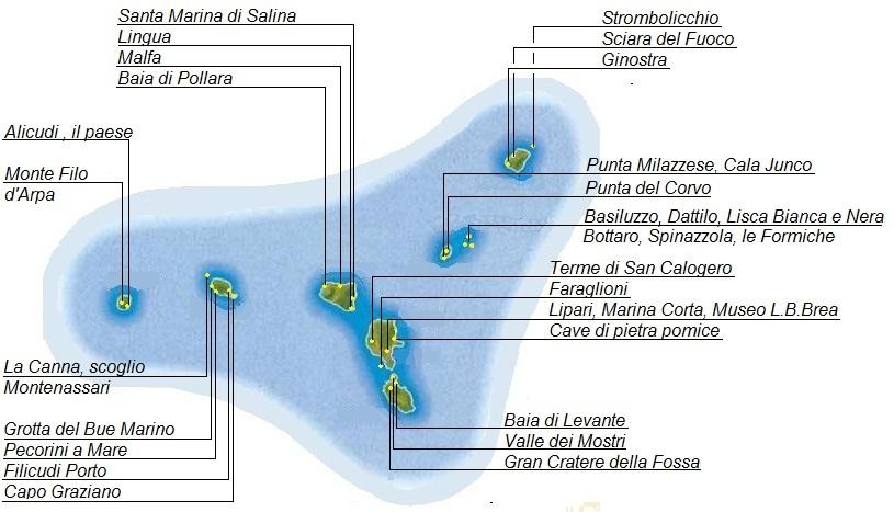 Isole Eolie Mappa
